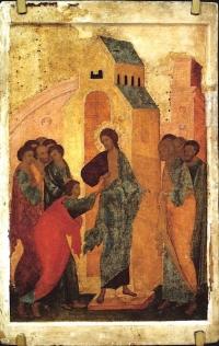 L'incredulità di Tommaso (antica icona russa)