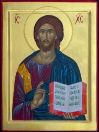Cristo Pantocratore con libro aperto